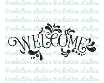 Welcome SVG, rustic wood sign, farmhouse sign, country svg, commercial svg,dxf, eps, jpg, png file for silhouette or cricut cutting machine