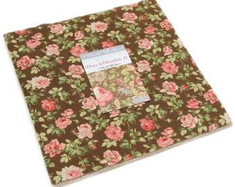 "Roses & Chocolate II Moda Layer Cake, 42 - 10"" precut fabric quilt squares by Moda Classics"