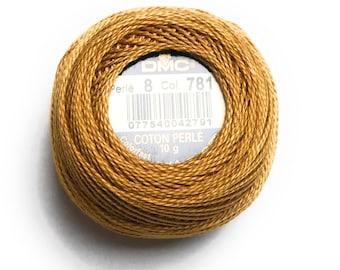 DMC 781 Perle Cotton Thread |Size 8| V DK Topaz