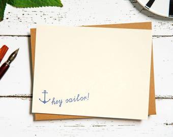Hey Sailor Letterpress Note Card