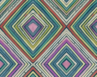 Carrie Bloomston Fabric, Zig Zag, 42575-X Multi, Windham, 100% Cotton