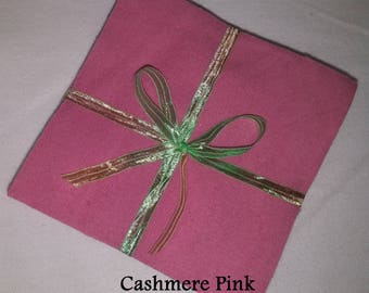 Solid CASHMERE ROSE pink, FLANNEL Fabric Squares,  Rag Quilt, Traditional Quilting, pick size & quantity, We Cut You Sew