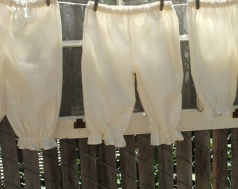 Ready now!  Toddler 4T Long Natural Basic Bloomers Cotton No Lace