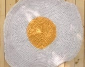 Charlotte's Amish Knot Shabby Chic  Fried Egg Rug - made to order