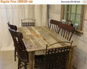 "ON SALE Driftwood Table (60"" x 30"" x 29""H) with bench (48 x 15 x 17H)"