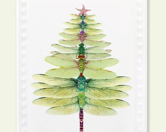 dragonfly tree Christmas ornament- dragonfly gift- christmas decoration- dragonfly ornament- Christmas ornament- dragonfly art