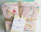 SALE 18 Fat Quarters BUNNIES & BLOSSOMS by Penny Rose Fabric from Lauren Nash