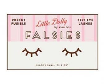 SALE 3 pairs Little Dolly FALSIES fusible felt eyelashes by Elea Lutz from Penny Rose Designs