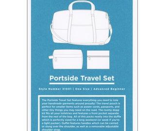SALE Portside Travel Set Bag Pattern by Grainline Studio