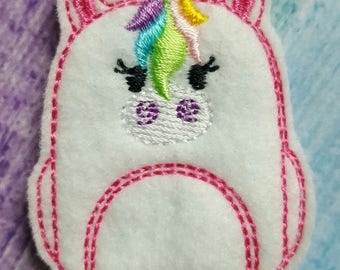 Unicorn Back Pack Feltie, Back Pack Feltie, Unicorn Feltie, Felt Embellishments, Felt Applique, Hair Bow Supplies