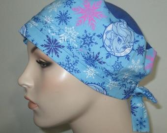Frozen Sisters Scrub Cap OR Cap Pediatric Nurses Cap Surgical Cap Free Ship USA Adjustable Chemo Hat