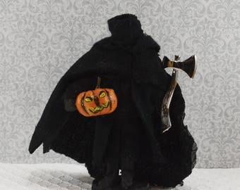 The Headless Horseman Legend of Sleepy Hollow Story Character Doll Miniature