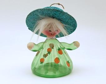 Vintage Christmas Ornament Glass Ornament Italian Figural Girl Italy