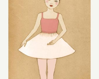 Sale Ballerina Deluxe Edition Print  of original illustration