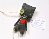 Voodoo Doll Weird Gift Handmade Pincushion Funny Gift For Her Cute Office Decor Voodoo Witch Doll Crafter Gift Doll One of a Kind Plush Doll