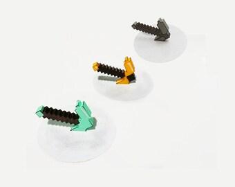 Axe Splat - Pixel Minecraft Inspired