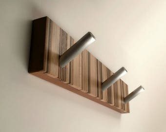 Wall Coat Rack, Modern Wood Coat Rack, Unique Wall Mounted Decorative Coat Rack