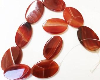 Strand of Botswana Agate Oval Beads