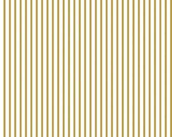 20%OFF Wonderland Stripe Gold - 2/3 Yard