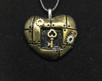 Steampunk Heart with Key