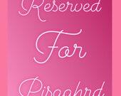 RESERVED FOR PISGAHRD