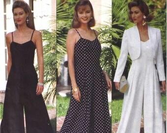 UNCUT 1993 Jumpsuit Bust 30.5 - 34 Butterick 6789 Vintage Sewing Pattern