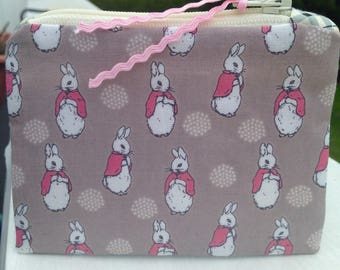 Peter Rabbit zipper pouch small zipper bag coin purse cute zipper bag bridesmaid gift birthday gift