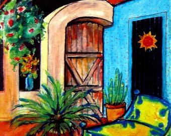 Wall Art -  Original Oil Pastel - Casa - Leah Reynolds