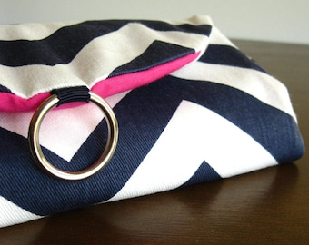 Travel Gift Women. Jewelry Travel Organizer. Best Seller Navy Chevron Jewelry Roll. Travel Jewelry Holder. Gifts for Travelers