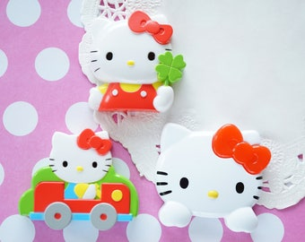 SALE 1 pc Large Size Hello Kitty Plastic Cabochon Motif