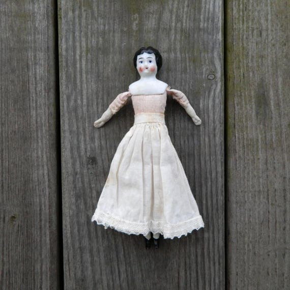 "Antique China and Cloth Doll 6"" Germany"