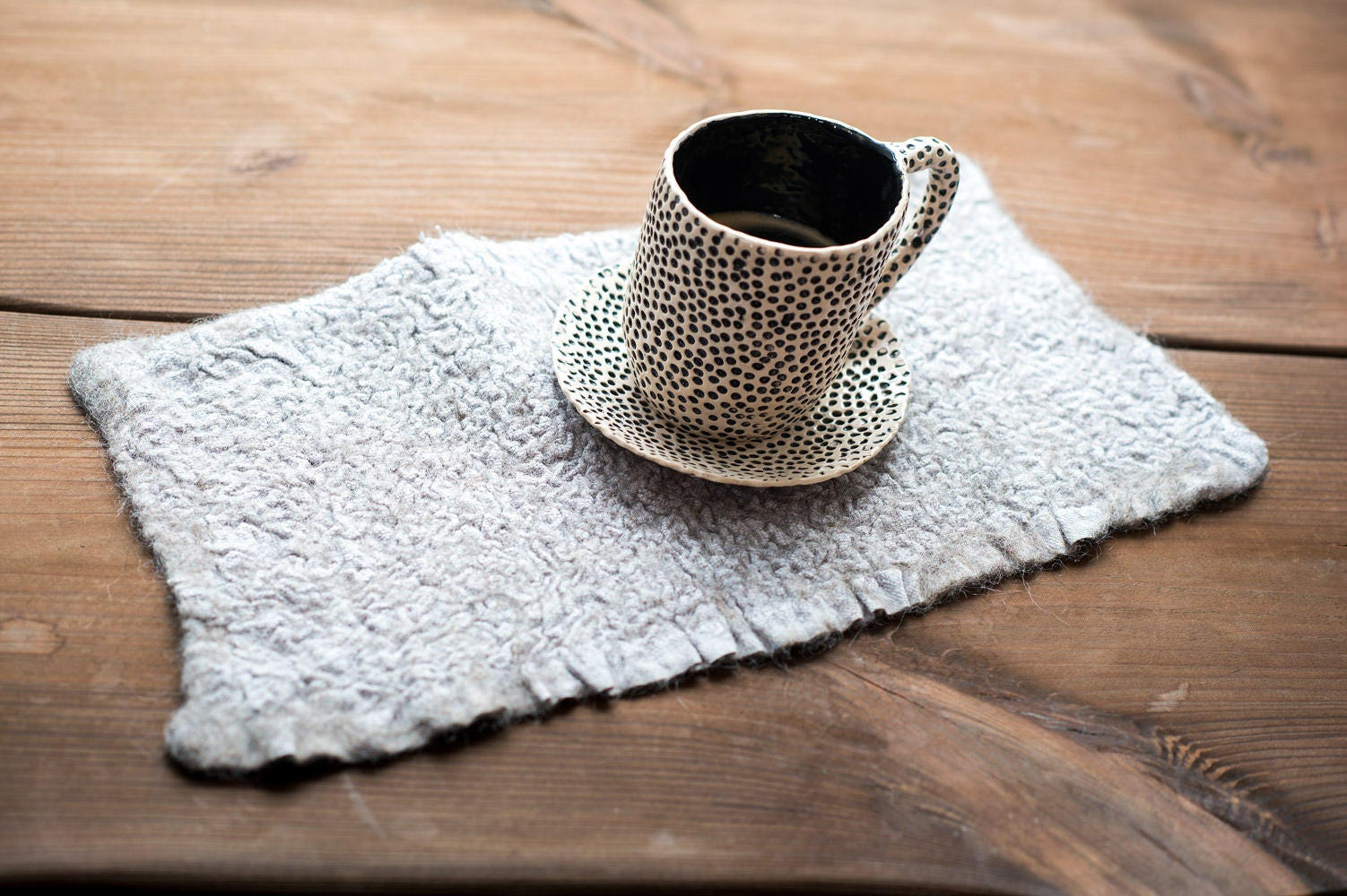 Rustic Look Linen And Wool Napkin Heatresistant Linen Placemats Linen  Table Decor Linen Home Decor