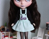 Poisonous mint - Overall dress sets with sweater and star head band for Blythe doll - by Icantdance