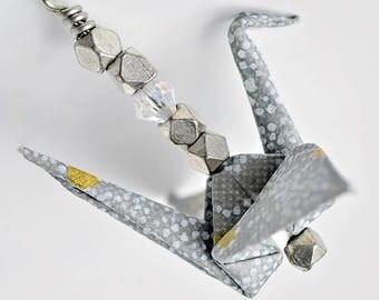 Blue earrings for daughter| Earrings birthday gift for wife| Girlfriend blue jewelry| Boho earrings for teen girls| Origami crane earrings