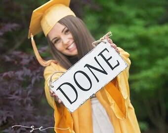 Graduation Signs, Graduation, Class of 2017, Senior Photo Props, Nursery signs, 5 1/2 x 11 1/2