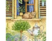 jardin d'herbes summer garden print
