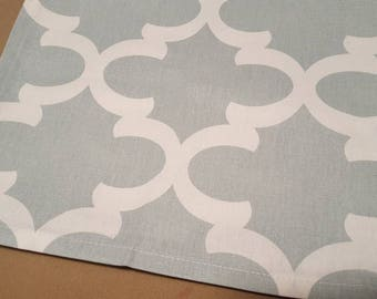 Snowy Blue Fynn Table Runner - Ready to be shipped! - 95 x 13 inches