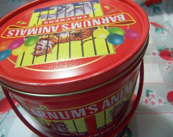 1990 barnum's animals crackers bucket