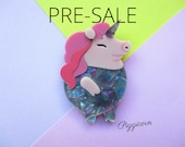 PRE-ORDER: Piggicorn the Unicorn Pig Acrylic Brooch