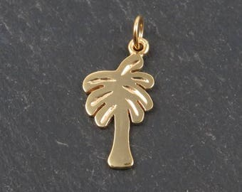 Gold Vermeil Palm Tree Pendant 21mm (CG8851)