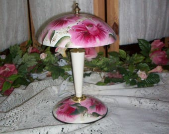 SHABBY to CHIC HP Roses Night Lamp / Table lamp Gorgeous
