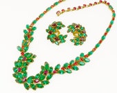 ON HOLD for D Rare Christian Dior By Kramer Rhinestone Wreath Necklace & Earrings Demi