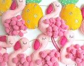 Flamingo and Pineapple Garland - kitsch retro bunting