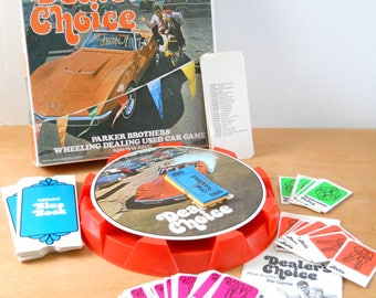 Vintage Dealer's Choice Game • 1972 Parker Brothers Game • 1970's Wheeling Dealing Used Car Game
