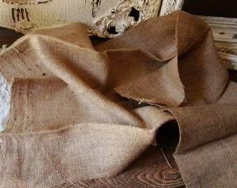 "burlap fabric 22""x35"" rustic wedding burlap table cloth craft supplies DIY wedding party table decor farmhouse"