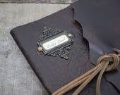 Dark Brown Simple Leather Baby Book