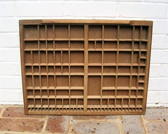 Antique Vintage Printers Wooden Tray Antique Vintage Printers Drawer Shadow Box Letterpress Tray 83 Sections