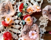 Boho baby shower decor, Baby shower confetti, baby girl confetti, coral and teal, burlap baby shower, dream catcher shower, baby girl shower
