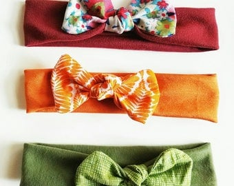 Headbands, Thick Fabric Headbands with Colorful Bows for Little Girls, Mommy and Me Headbands, Hair Bands, Baby Gifts and Photo Props