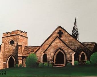 Frost Chapel Original Painting